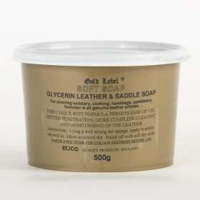 Glycerine Leather & Soft Saddle Soap by Gold Label Elico