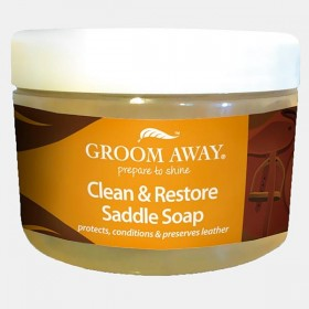 Groom Away Clean & Restore Saddle Soap (400g)