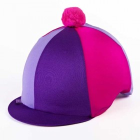 Capz Triple (TRI) Colour Lycra Skull Cap Covers in Purple/Lilac/Pink