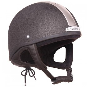 Champion Ventair Jockey Helmet - 55 to 63cm - Black & Silver