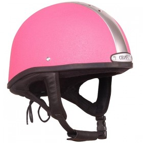 Champion Ventair Jockey Helmet - 55 to 63cm - Pink & Silver