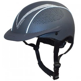 John Whitaker Victory Carbon Effect Helmet in Black (Sizes Small, Medium and Large)