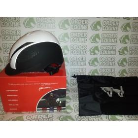 John Whitaker Victory Duo White Helmet - Sizes Medium and Large