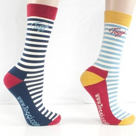 Toggi Chartham Socks (x 2) Navy Stripe