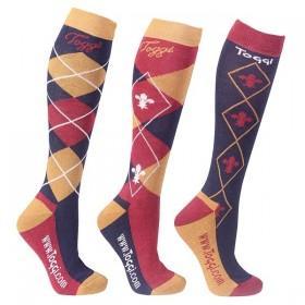 Toggi Chestermere Socks Navy (3x Pack)