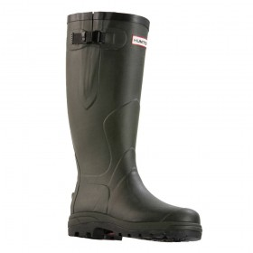 Hunter Balmoral Classic Wellington Boots in Dark Olive