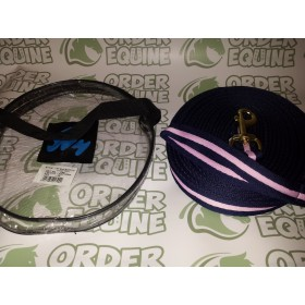 Hy Soft 25ft Padded Web Lunge Rein in Navy/Pink