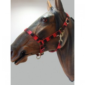 Headcollar & Lead Rope Set by Knight Rider (Red & Black)
