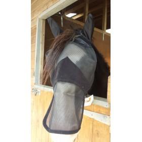 Castle Full Face Fly Veil in Black (Pony, Cob, Full Size)