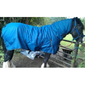 Knight Rider Heavyweight Rug with Neck Cover (sizes 4ft 6 to 7ft 3) in Blue
