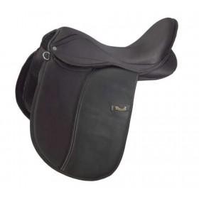 """Rhinegold Synthetic Dressage Saddle - Medium - 15"""", 16"""", 17"""", 18"""""""
