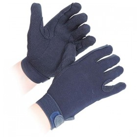 Cotton Horse Riding Gloves in Navy by Elico