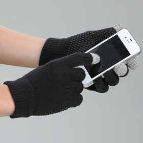 Touch Screen Magic Horse Riding Gloves in Black