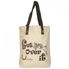 10oz Canvas Shopping Bag with Get Over It Design