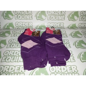 Holland Excellent Equestrian Socks - Purple/Pink
