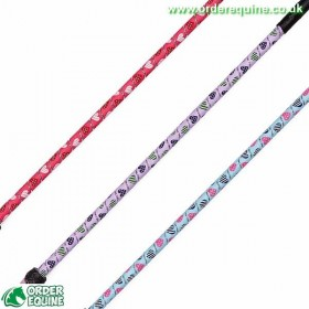 Elico Riding Whip - Heart Designs n in Blue, Lavender and Pink