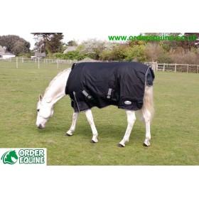 Rhinegold Konig Pony & Foal Outdoor Rug - 600 denier / 200g Polyfill - Black