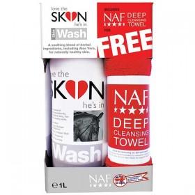 NAF Love the Skin Wash (1 Litre Bottle) with Free Towel