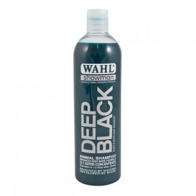 Deep Black Wahl Animal Shampoo available in 500ml and 5 Litres
